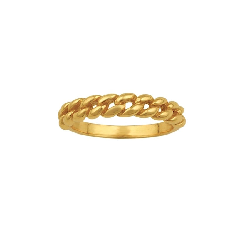 Delilah Chain Ring Gold