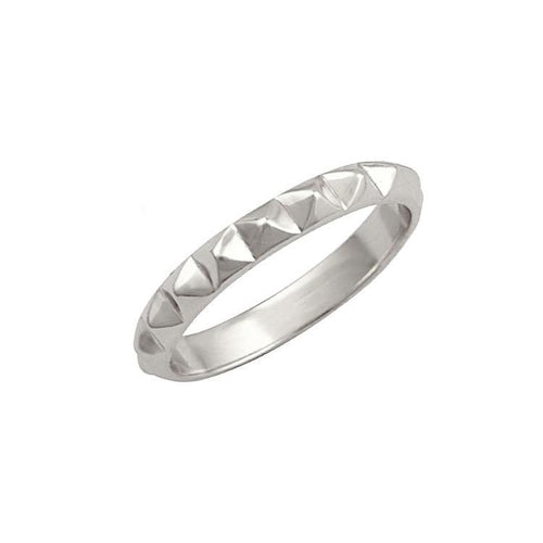 Nour Pyramid Ring Silver