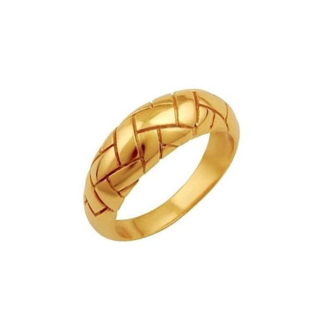 Alexa Dome Ring Gold