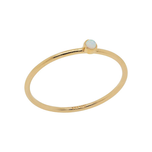 Baby Opal Ring Gold