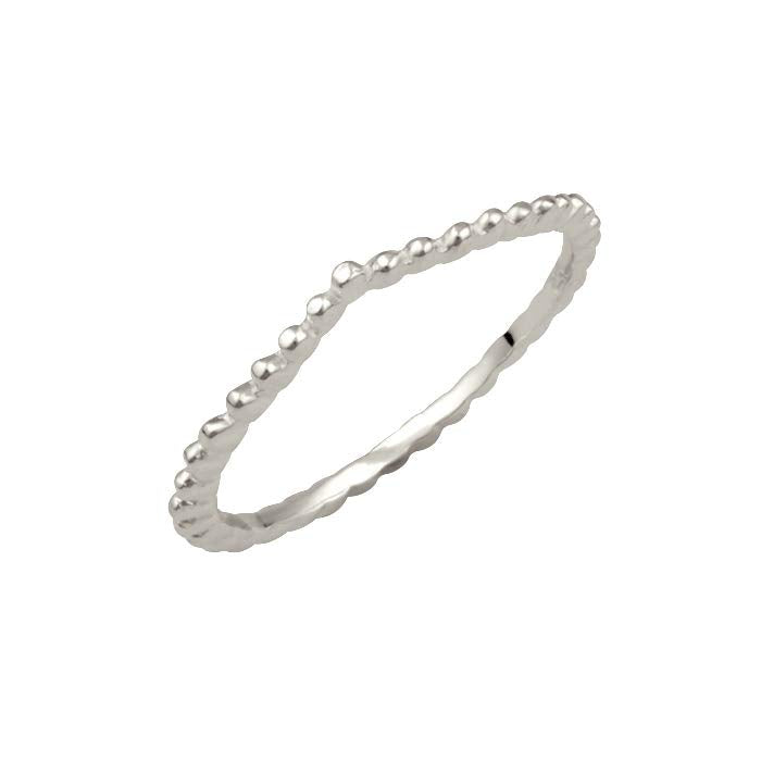 Bubble Chevron Ball Ring Silver