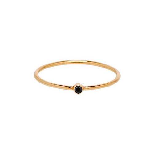 Mini Black Bezel Ring