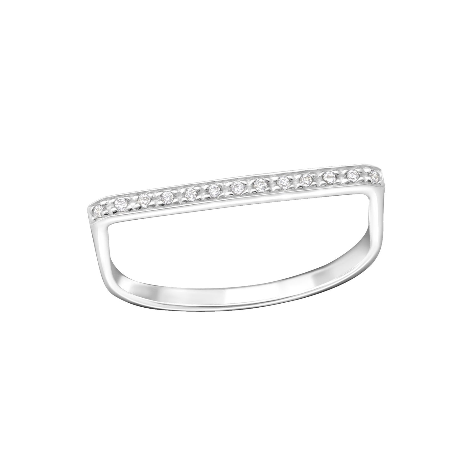 Designer Sparkle Bar Ring