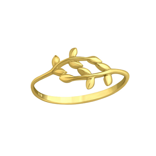 Vine Leaf Ring Gold