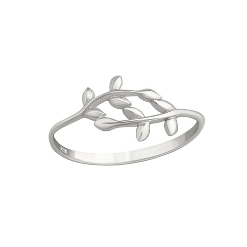 Vine Leaf Ring Silver