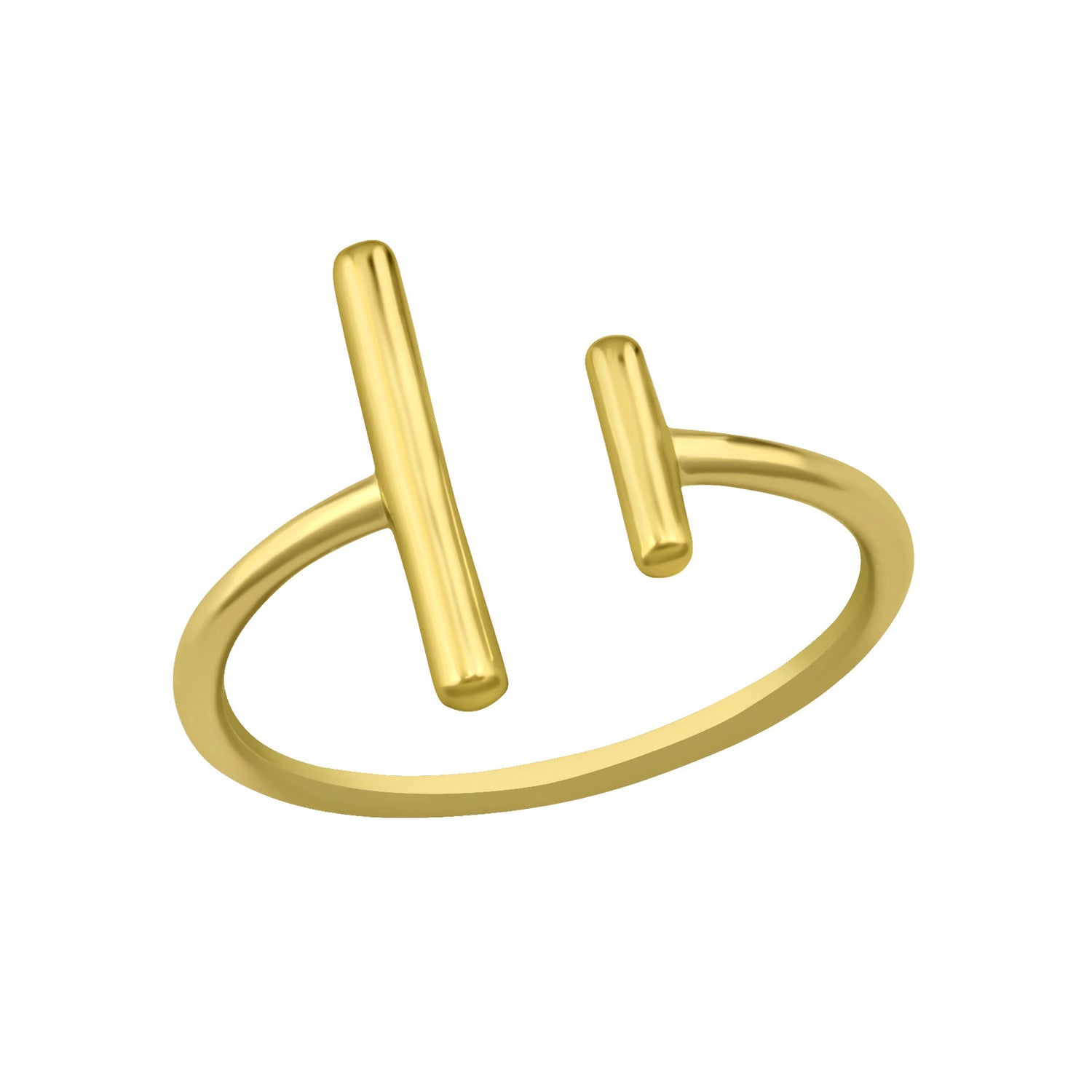 Double Bar Ring Gold