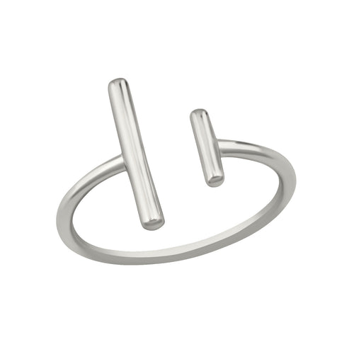 Double Bar Ring Silver