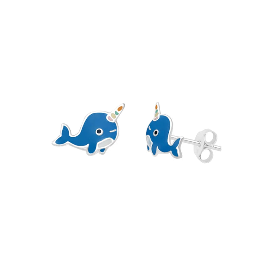 Mythical Whale Stud Earrings