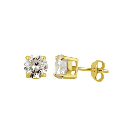 Shiny Diamond Stud Earrings