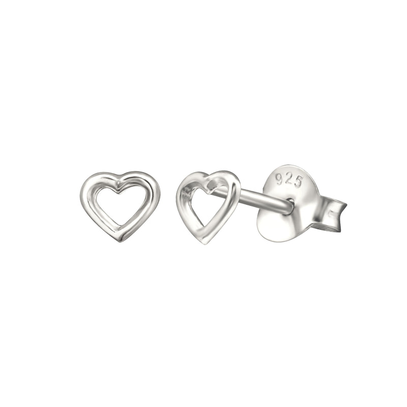 Baby Open Heart Stud Earrings