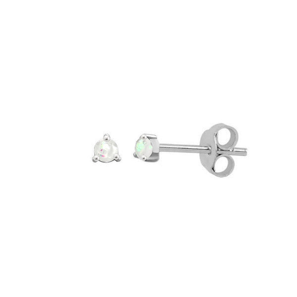 Mini Opal Stud Earrings