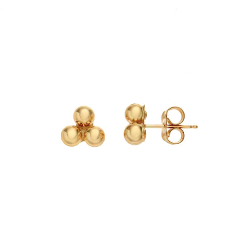 Trinity Ball Stud Earrings