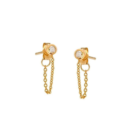 Sparkling Chain Stud Earrings
