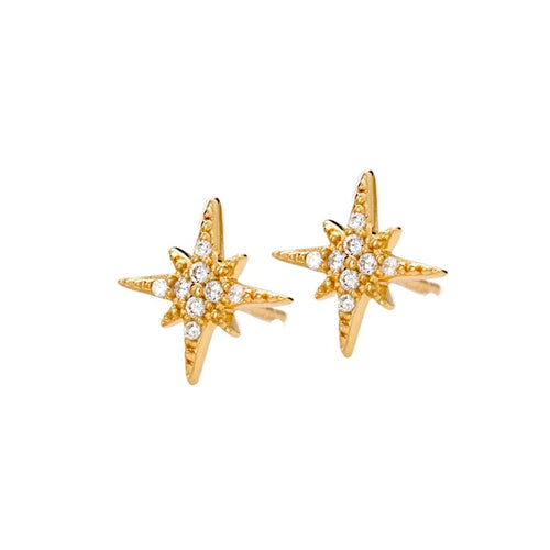Sparkly Starburst Stud Earrings