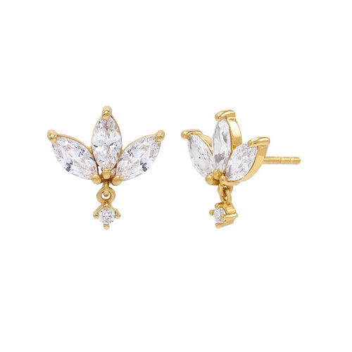Sparkly Marquise Dangle Stud Earrings