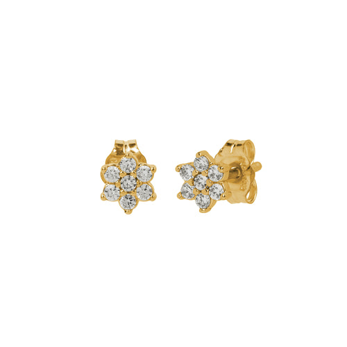 Pavé Flower Stud Earrings