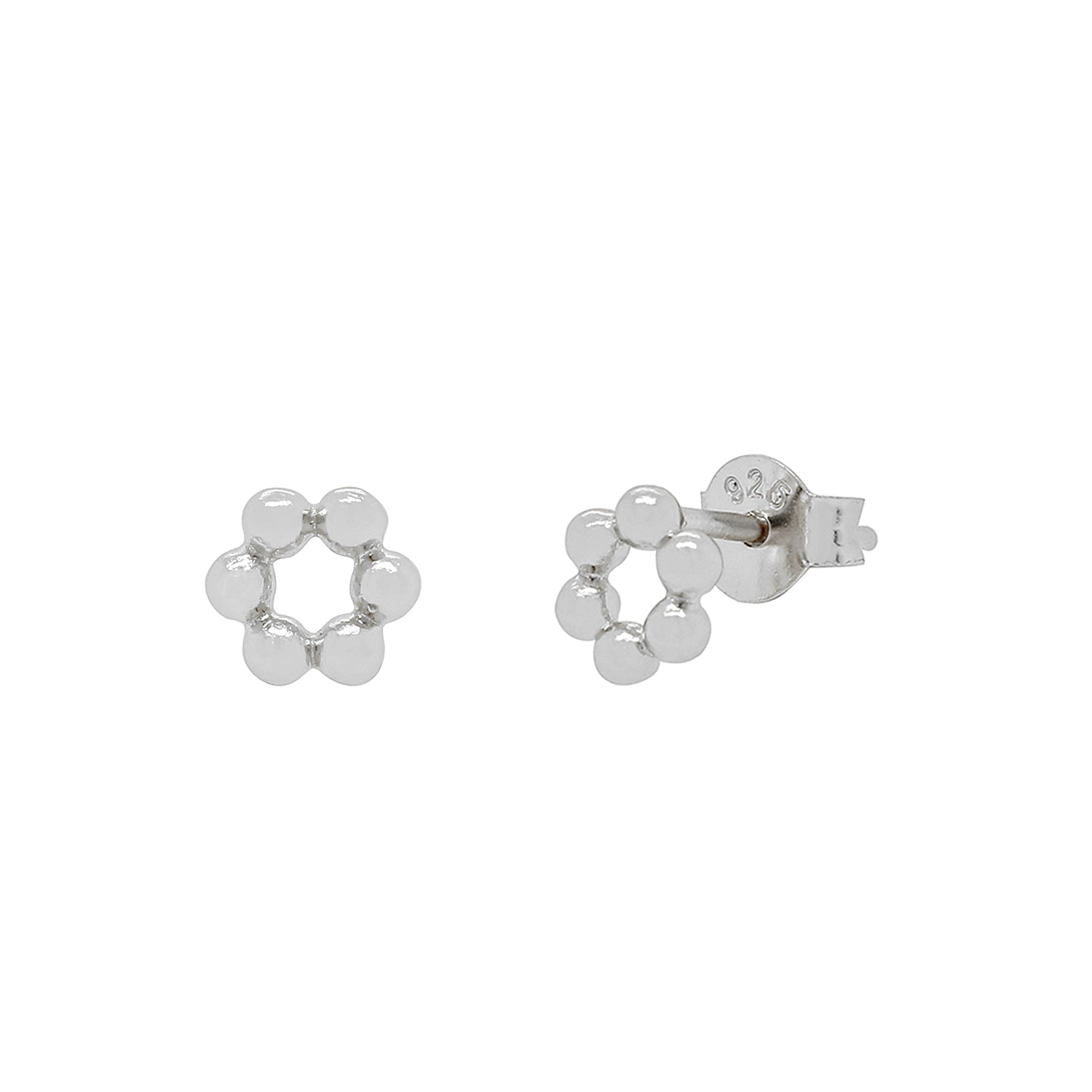 Bubble Circle Stud Earrings