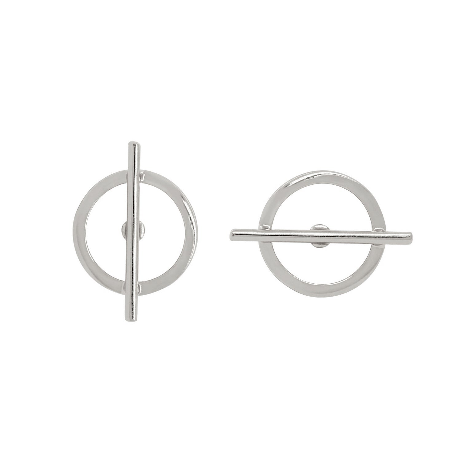 Geometric Circle Bar Stud
