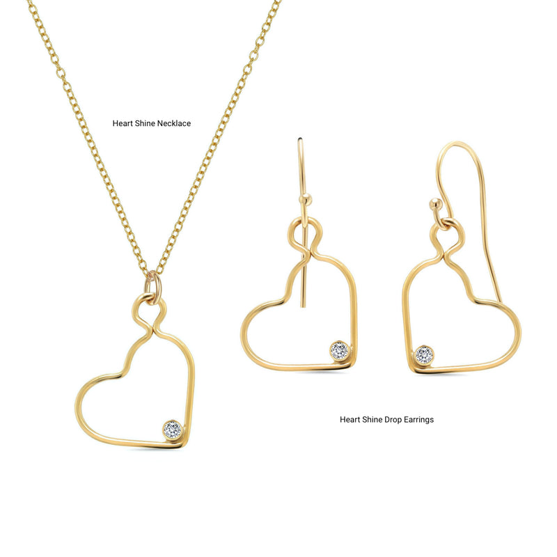 Heart Shine Drop Earrings