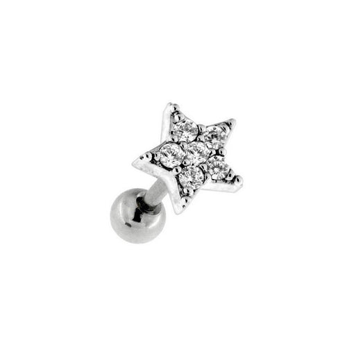 Bling Star Cartilage Barbell