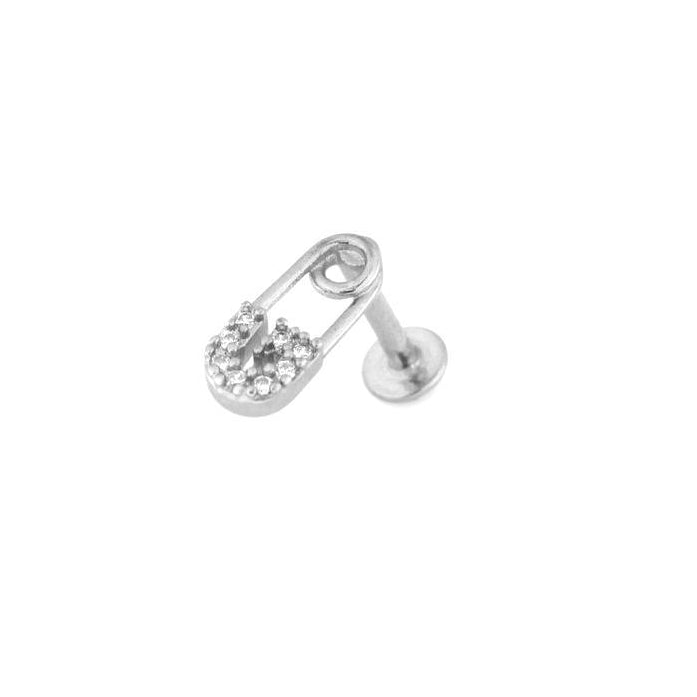 Sparkle Safety Pin Cartilage Labret