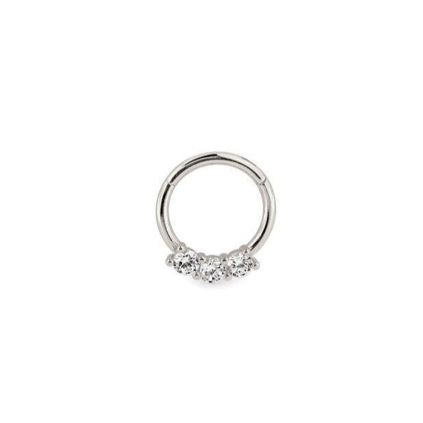 Jewel Paved Clicker Ring