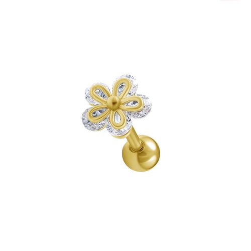 Radiant Flower Cartilage Barbell