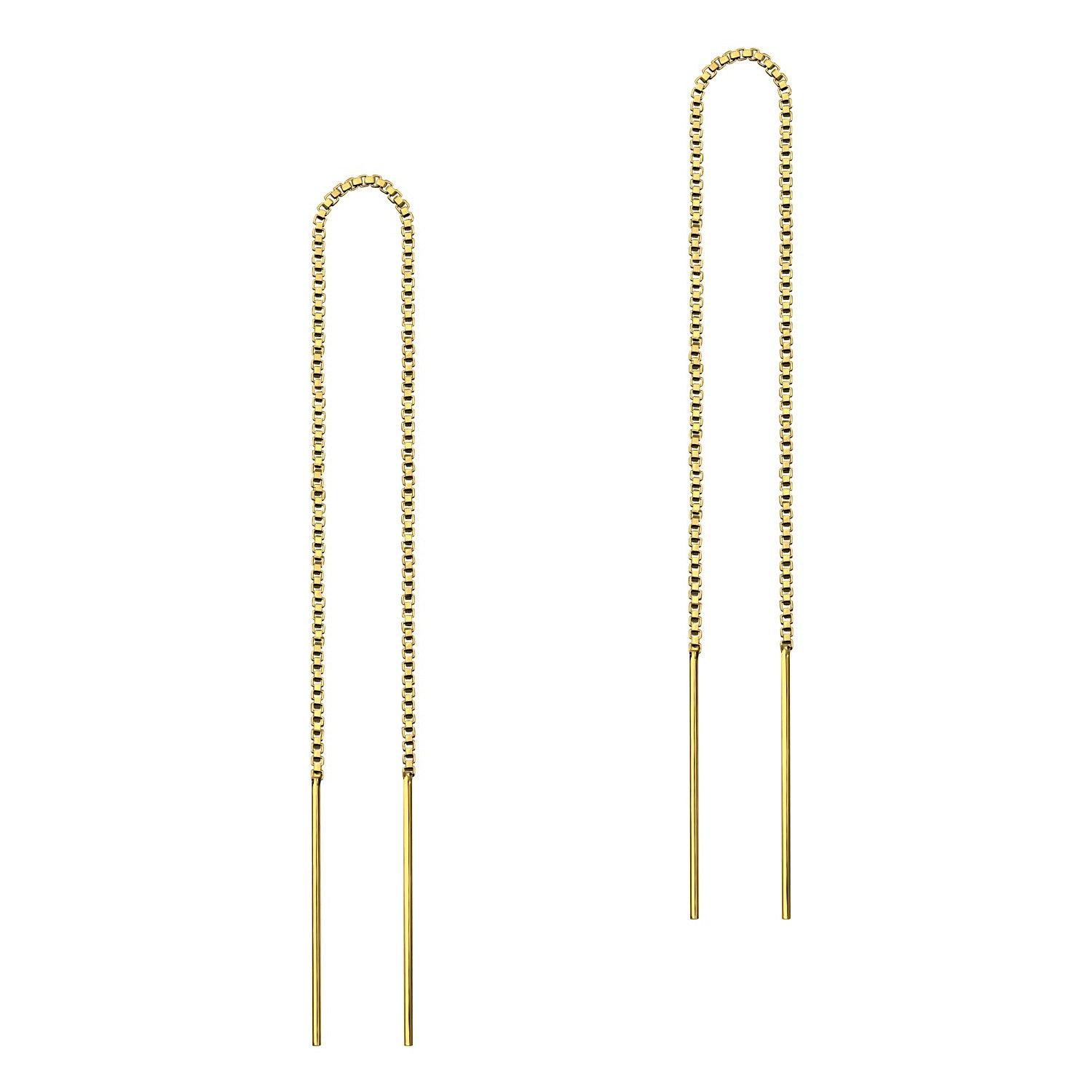 Box Chain Threader Earrings
