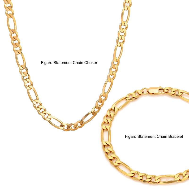 Figaro Statement Chain Bracelet