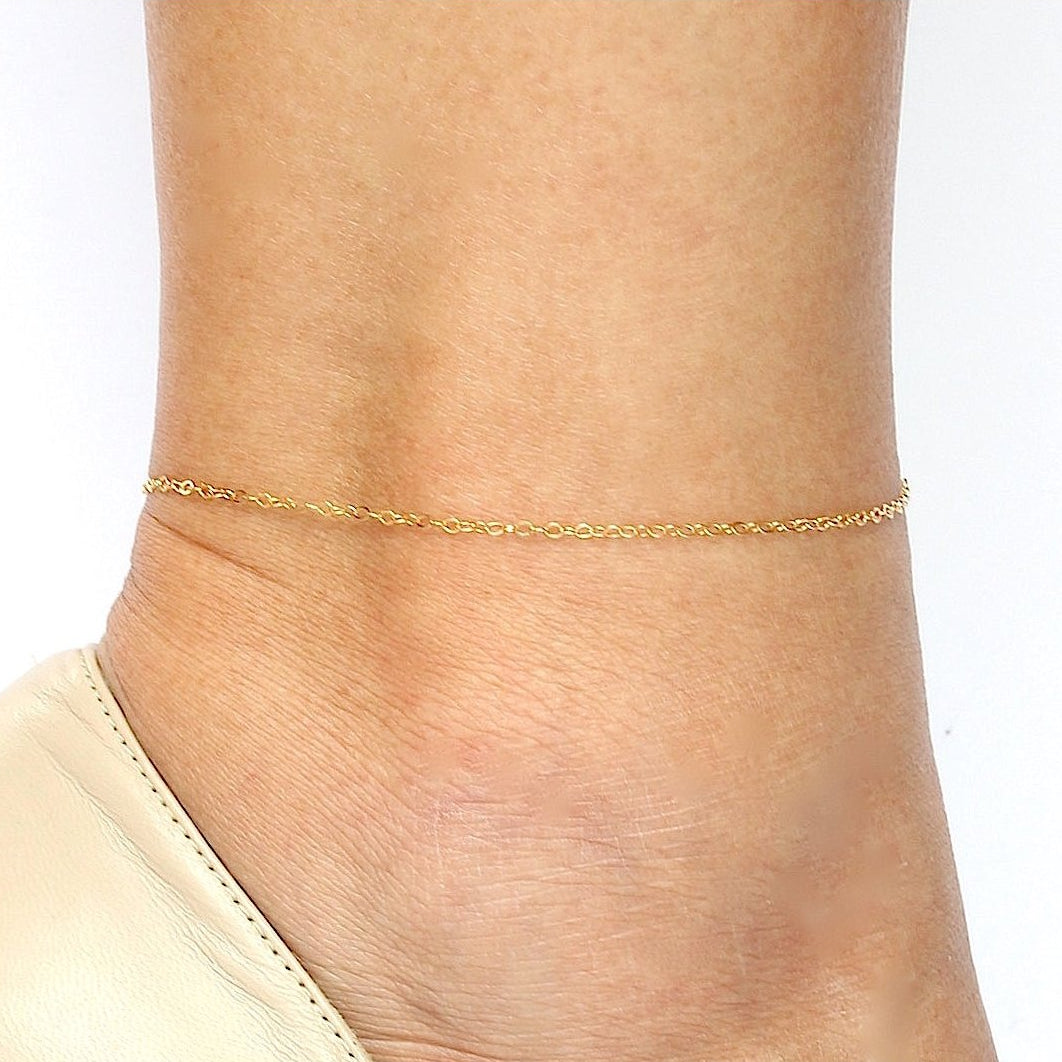 Barely There Chain Anklet Gold