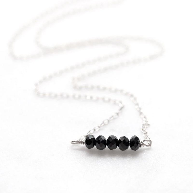 Black Nugget Necklace