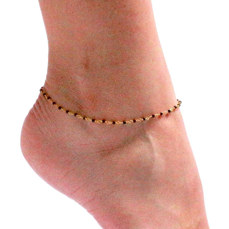 Black Spinel Anklet
