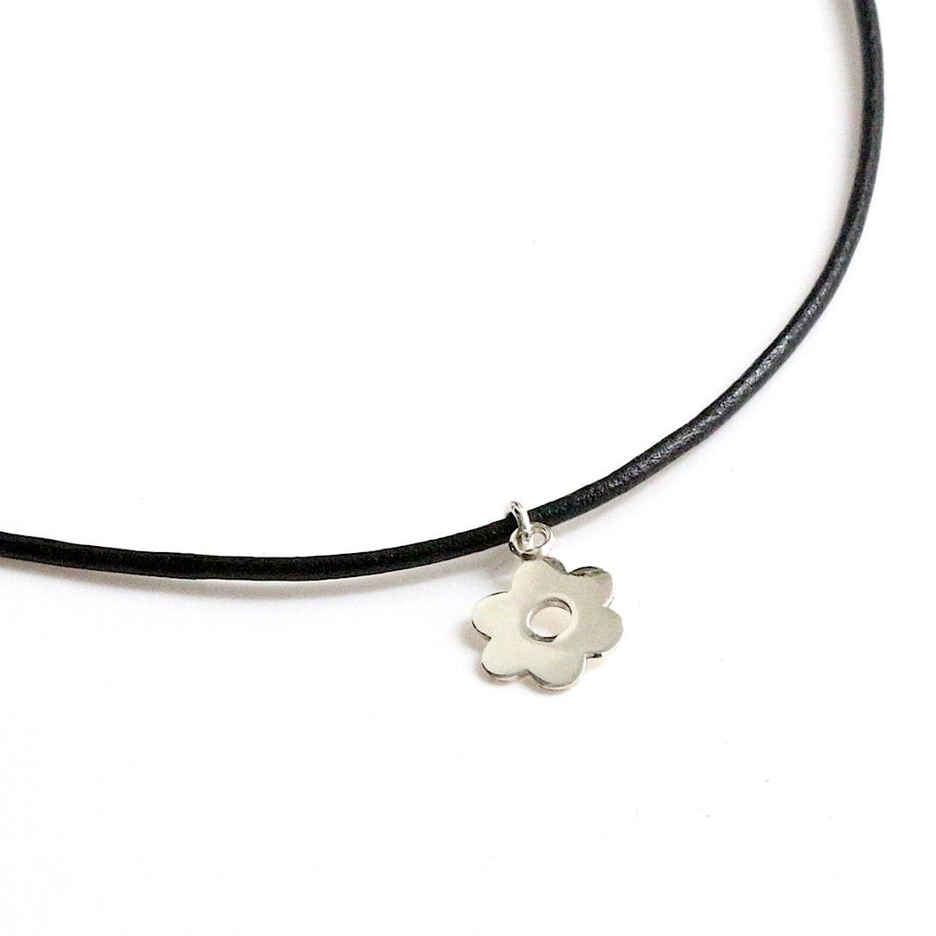 Bloom Floral Leather Choker