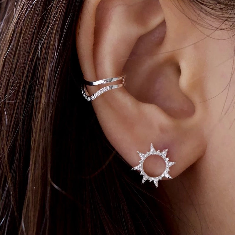 Brilliant Sun Stud Earrings