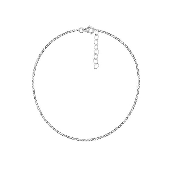 Barely There Chain Anklet Silver