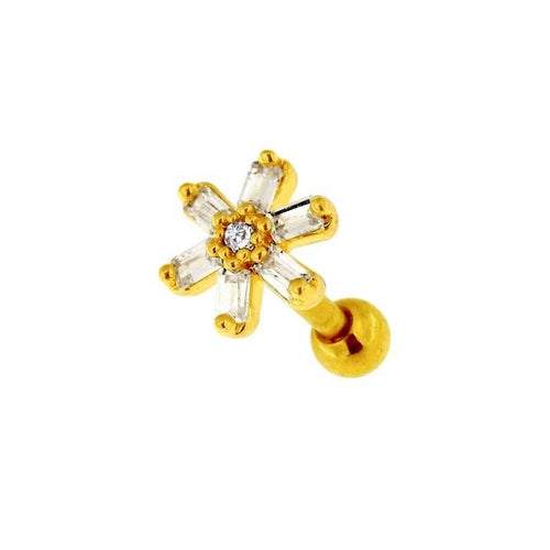 Spring Flower Cartilage Barbell