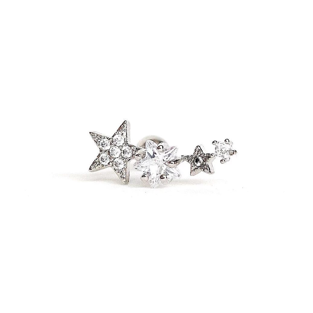 Starry Star Cartilage Barbell