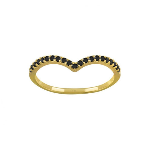 Chevron Black Pave Ring