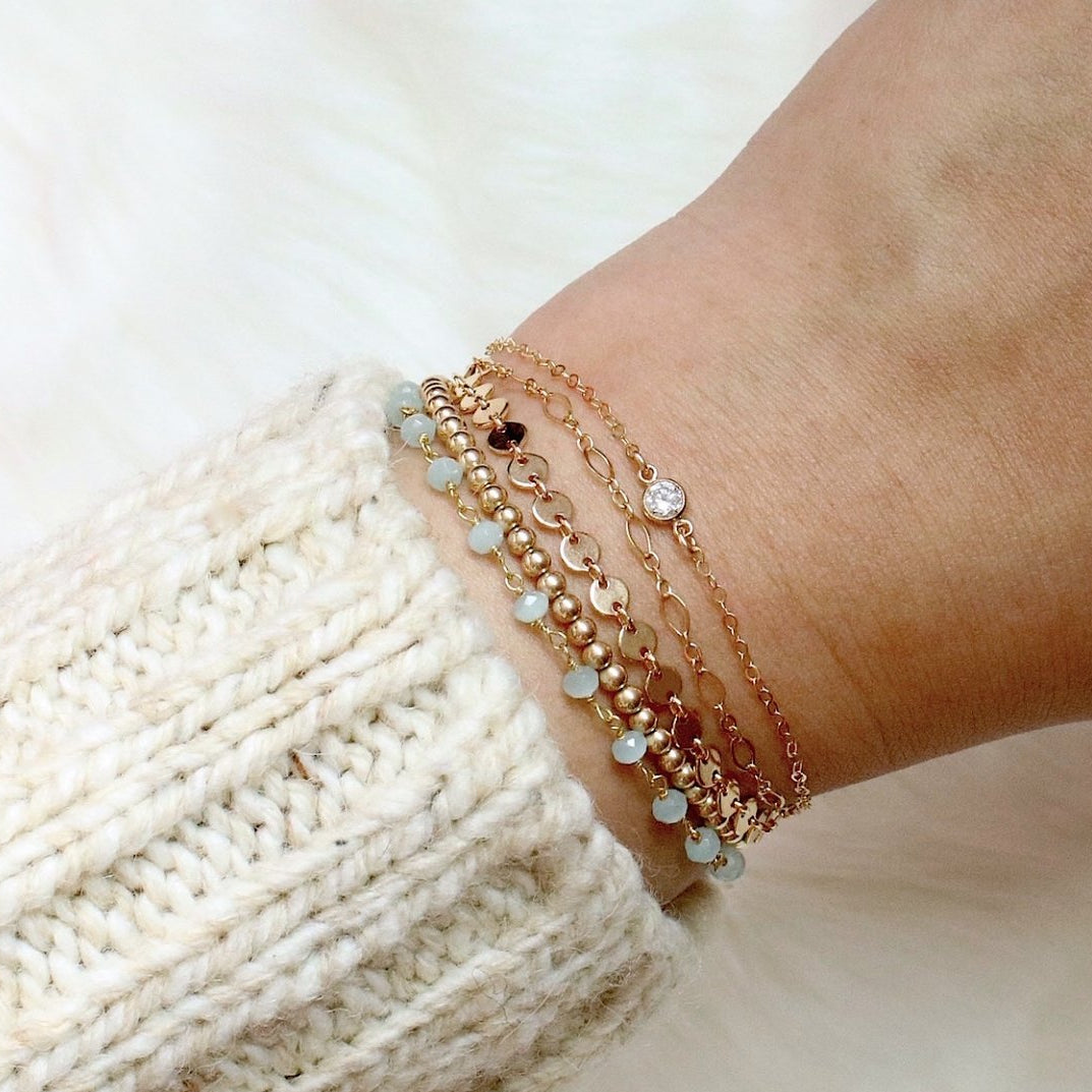 Classic Small Beaded Bracelet