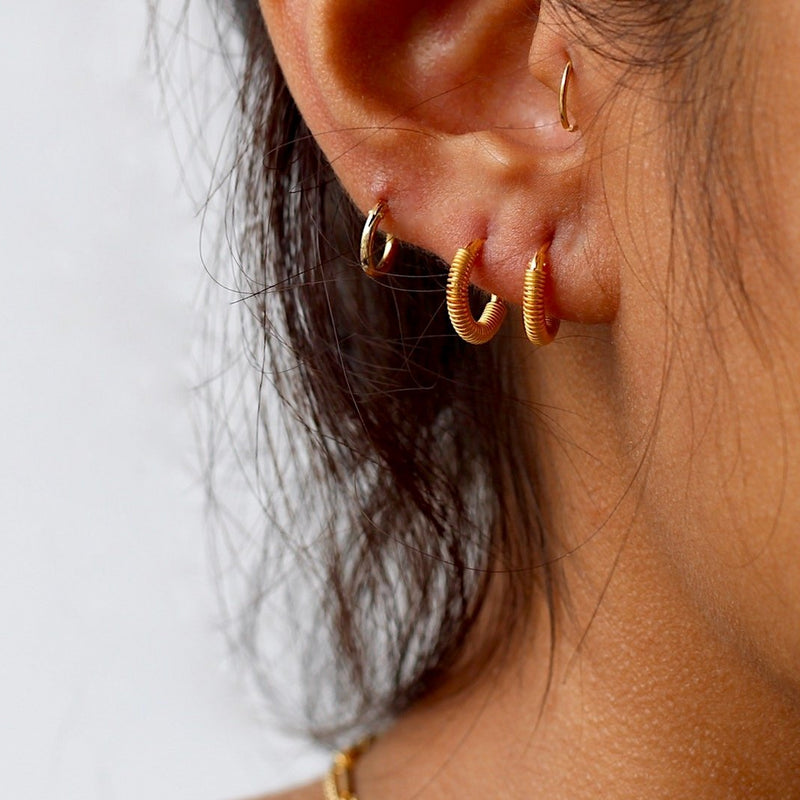 Coil Mini Hoop Earrings