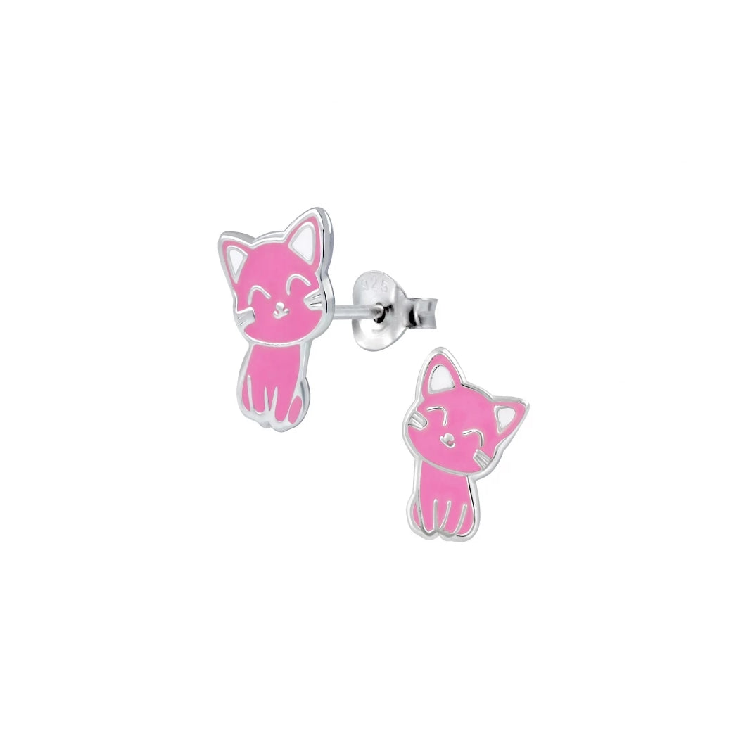 Cute Kitty Stud Earrings