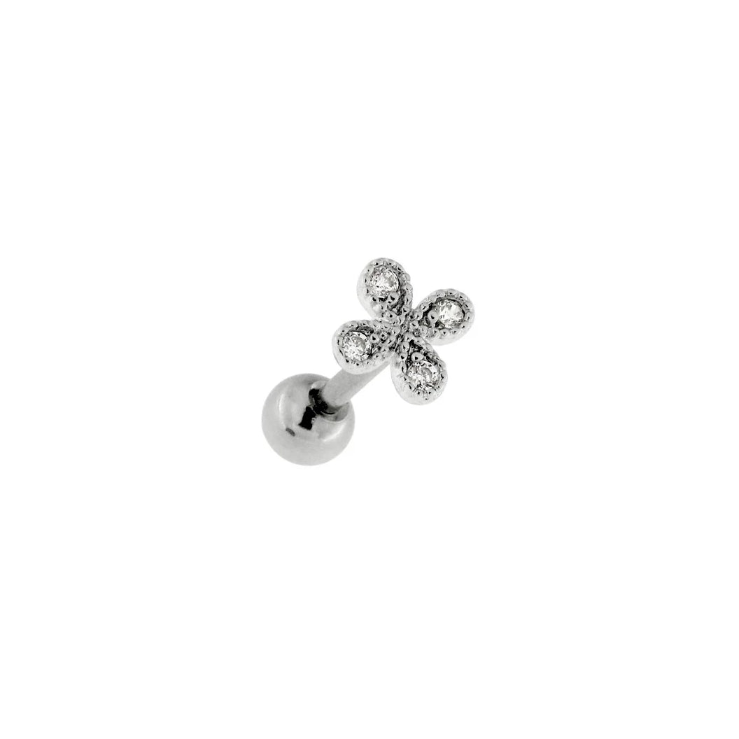 Dainty Flower Cartilage Barbell
