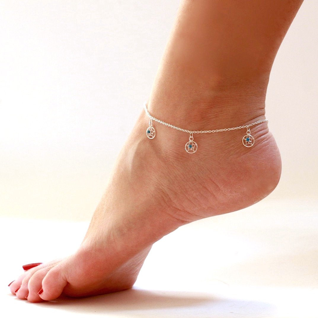 Dream Catcher Charm Anklet