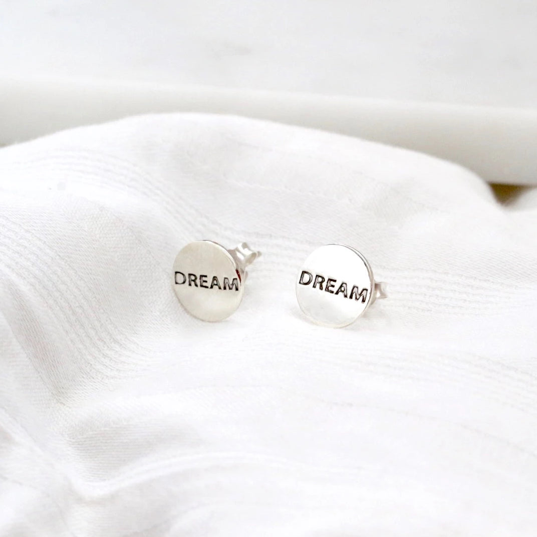 Dream Disc Stud Earrings
