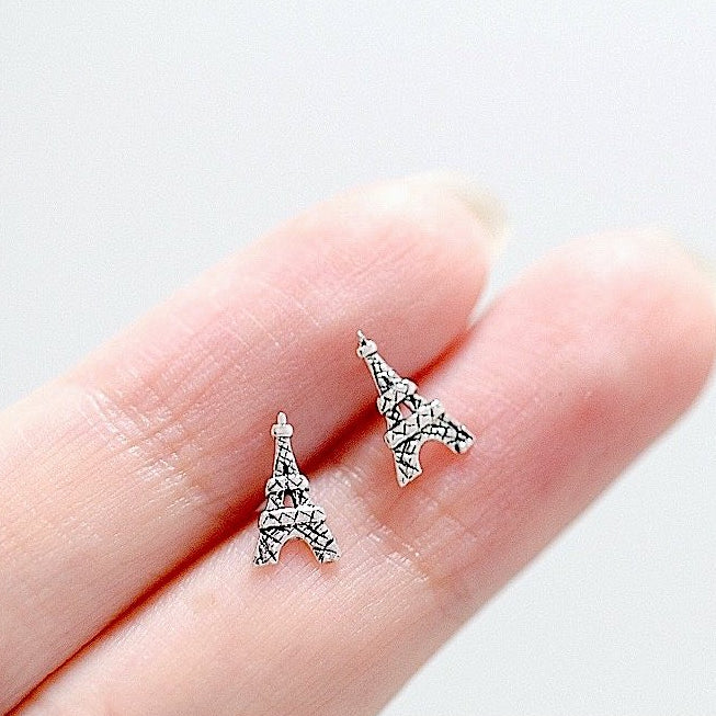 Eiffel Tower Stud Earrings