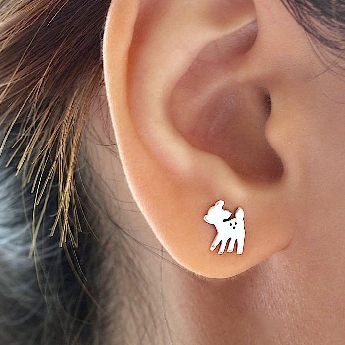Fawn Deer Stud Earrings