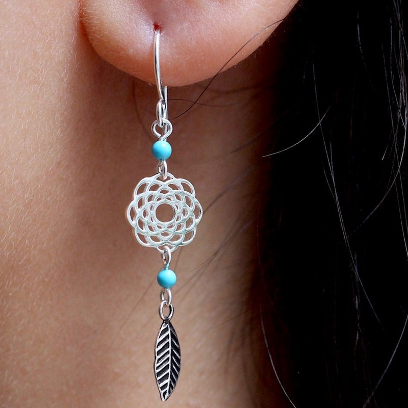 Floral Boho Drop Earrings