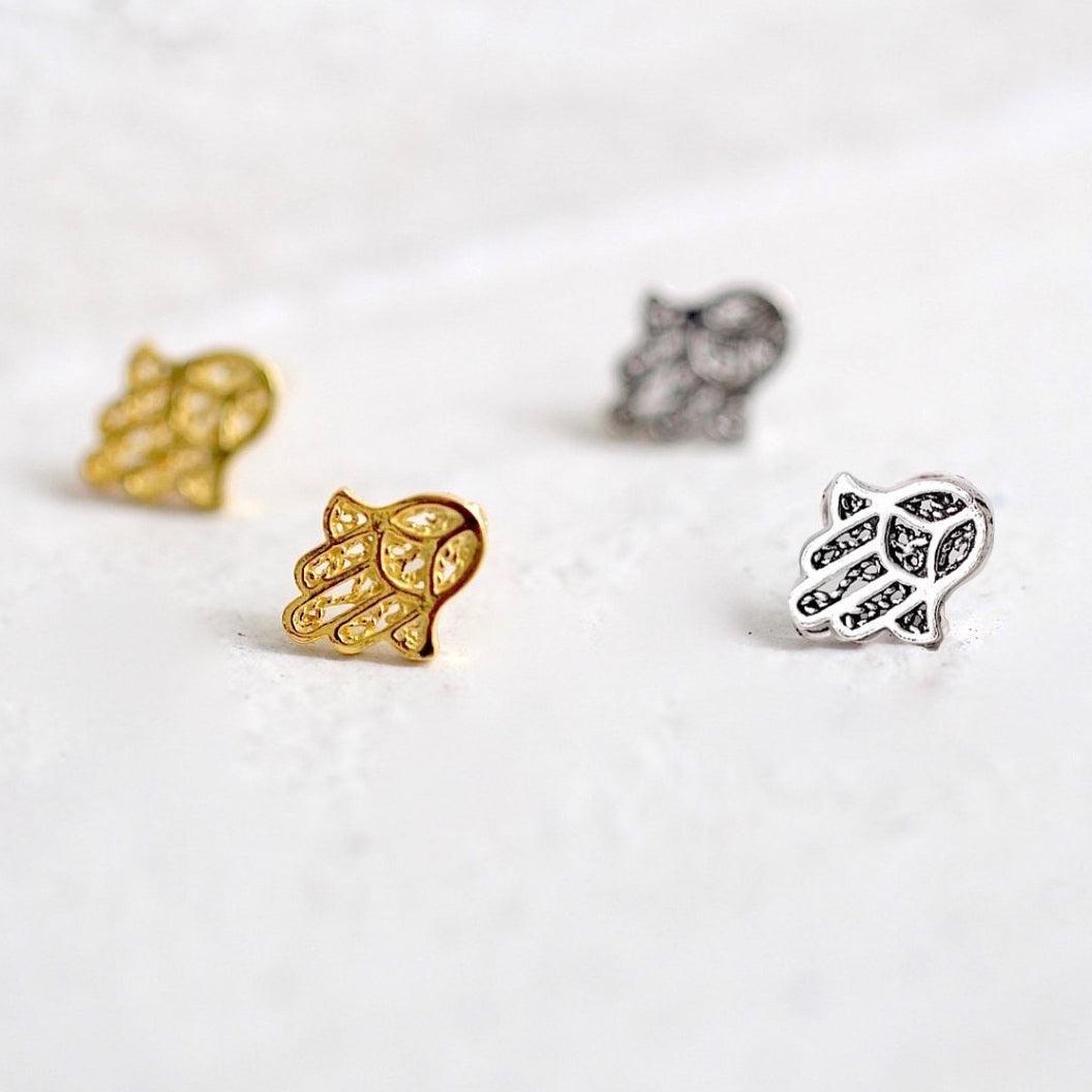 Hamsa Spirit Stud Earrings