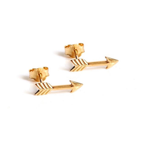 High Arrow Stud Earrings