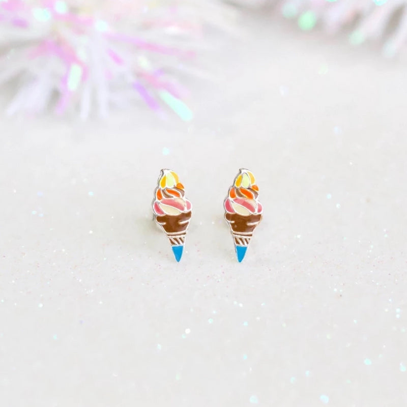 Champagne Ice Cream Stud Earrings